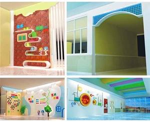 幼儿园大厅墙面设计-校园文化设计